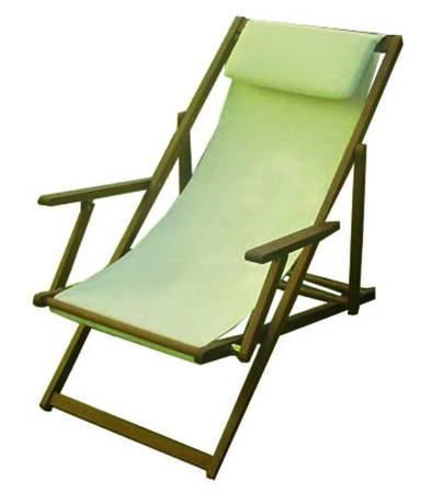 Tela Per Sedie A Sdraio.Sedia A Sdraio In Legno Massello Pregiato Con Braccioli E Tela