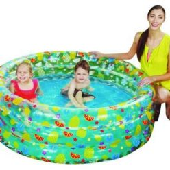 "PISCINA ""TROPICAL PLAY POOL"" TRASPARENTE 3 ANELLI +6 ANNI BESTWAY"